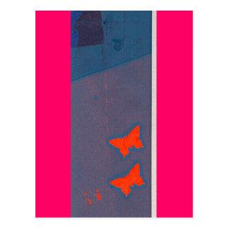 serigrafía de la mariposa tarjeta postal