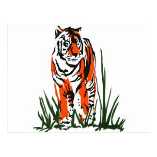 Serigrafía del tigre postales