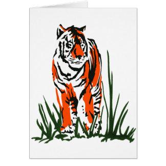 Serigrafía del tigre tarjeta de felicitación