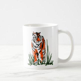 Serigrafía del tigre taza clásica