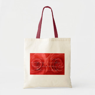 Serinety Prayer and Roses Tote Bag