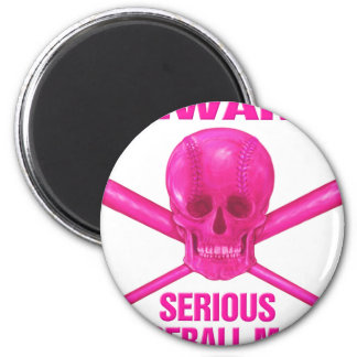 Serious Baseball Mom 2 Inch Round Magnet