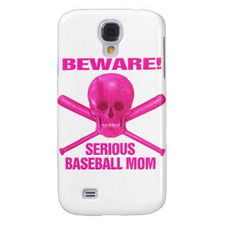 Serious Baseball Mom Galaxy S4 Case