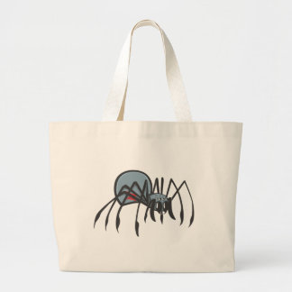 Serious Black Widow Spider Canvas Bags