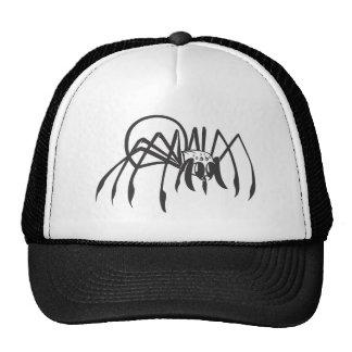 Serious Black Widow Spider in Black and White Trucker Hat