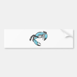 Serious Blue Crab in Black and White Bumper Sticker