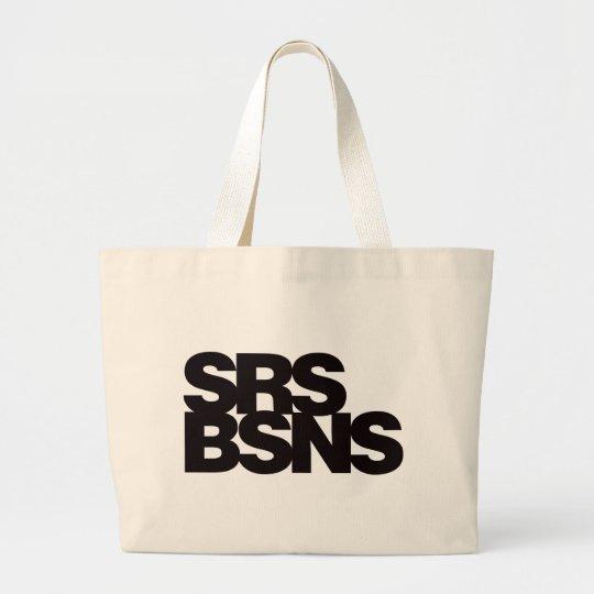 Serious Business - Black Large Tote Bag
