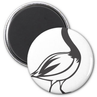 Serious Canada Goose Bird in Black and White 2 Inch Round Magnet