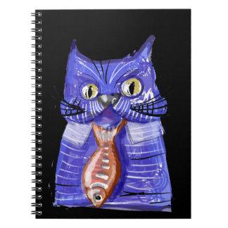 Serious Cat Spiral Notebooks