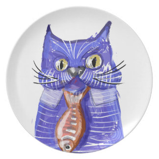 Serious Cat Plate
