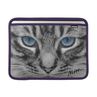 Serious Cat with Blue Eys Customizable Sleeve For MacBook Air