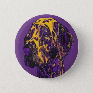 Serious Dalmatian. Standard, 2¼ Inch Round Button. Pinback Button