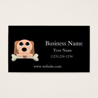 Serious Dog with A Bone That Says Mine Business Card