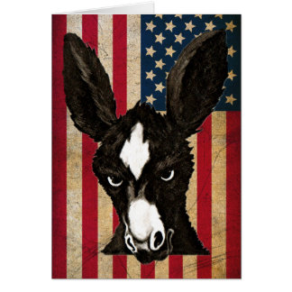 Serious Donkey-Politics-Write Your Own Witty Text Card