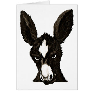 Serious Donkey-Write Your Own Witty Text Card