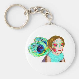 Serious Fairy Basic Round Button Keychain