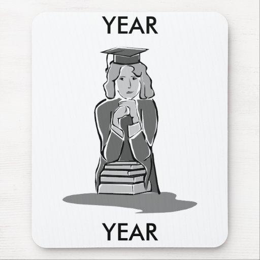 Serious Female Graduate Mousepad