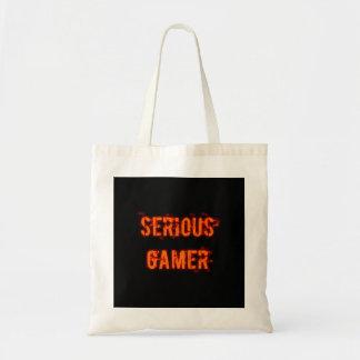 Serious Gamer - Orange Tote Bag