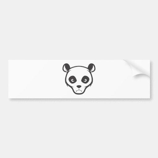 Serious Giant Panda Bear Bumper Sticker