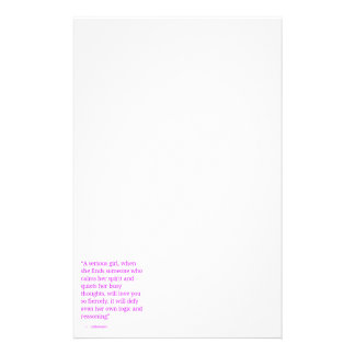 SERIOUS GIRL LOVE YOU SO FIERCELY IT WILL DEFY EVE STATIONERY DESIGN