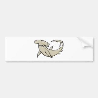 Serious Hammerhead Shark Car Bumper Sticker