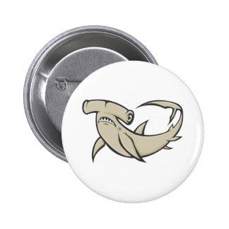 Serious Hammerhead Shark Pinback Button