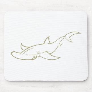 Serious Hammerhead Shark Mousepads