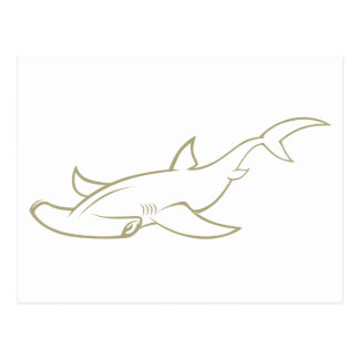 Serious Hammerhead Shark Post Cards