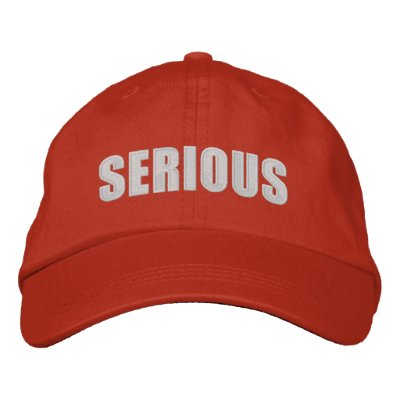 Serious Hat Embroidered Hats