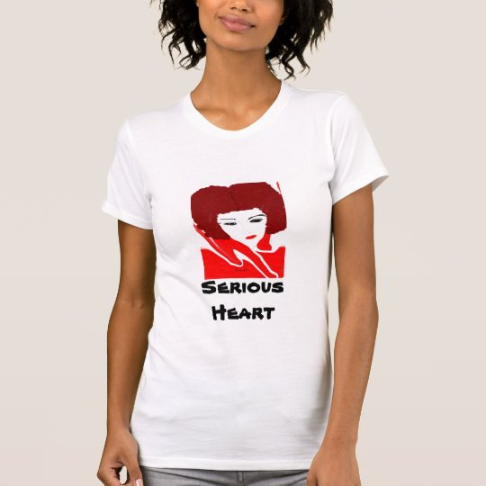 Serious Heart... Ladies Tank Top (fitted)