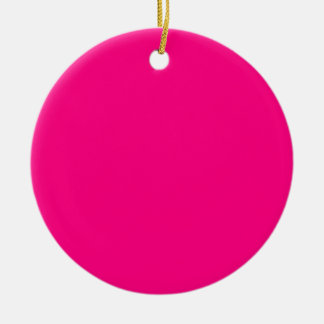 Serious Hot Pink Color Bright Trend Template Blank Christmas Ornaments