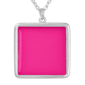 Serious Hot Pink Color Trend Blank Template Pendants