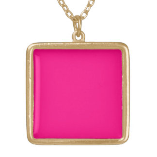 Serious Hot Pink Color Trend Blank Template Pendant