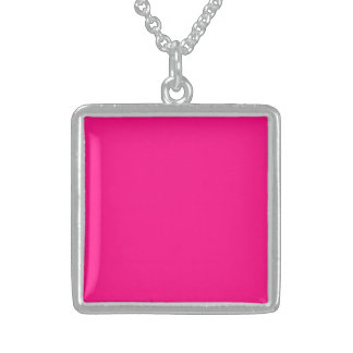 Serious Hot Pink Color Trend Blank Template Necklace
