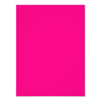 Serious Hot Pink Color Trend Blank Template Photo Print