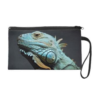 Serious Iguana Portrait Wristlet Purse