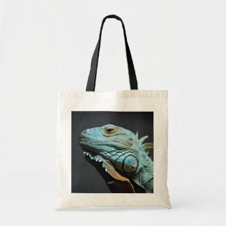 Serious Iguana Portrait Tote Bag