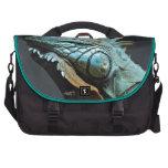 Serious Iguana Portrait Laptop Messenger Bag