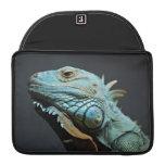 Serious Iguana Portrait Sleeve For MacBook Pro