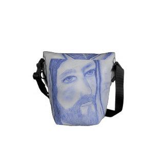Serious Jesus Messenger Bag