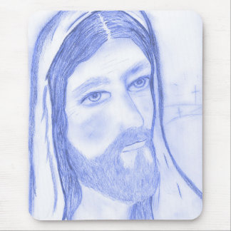 Serious Jesus Mouse Pad