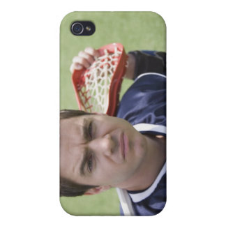 Serious lacrosse player iPhone 4 case