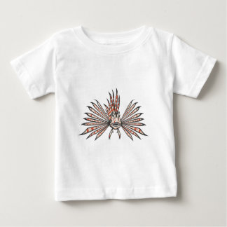Serious Lion Fish in Black and White Baby T-Shirt