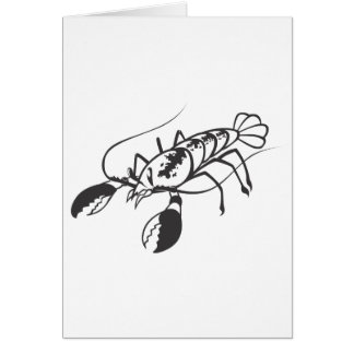 Serious Lobster in Black and White Card