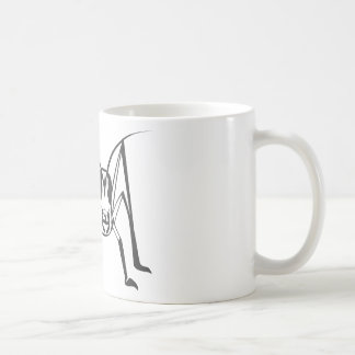 Serious Locust Insect in Black and White Coffee Mug