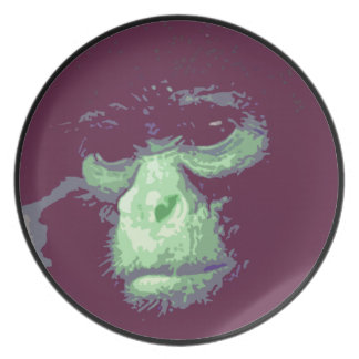 Serious Monkey Face Plate