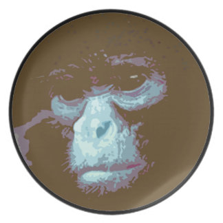 Serious Monkey Face Plate (brown)