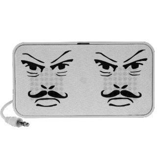 Serious Moustache Man Mini Speaker