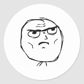 Serious Not Okay Comic Face Classic Round Sticker