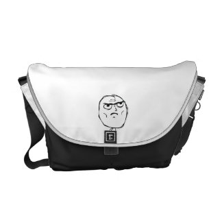 Serious Not Okay Comic Face Courier Bag